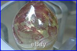 MINT Kosta Boda Signed Olle Brozen PINK Underworld Fish Vase Meuseum Piece w Box