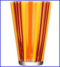MSRP $300 Kosta Boda Cabana Vase, Orange