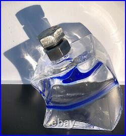 Macho KJELL ENGMAN KOSTA BODA SWEDEN Signed Studio Glass Decanter Carafe