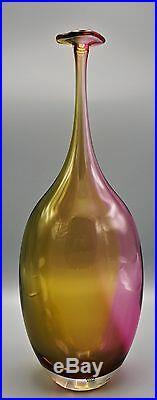 Magnificent Kosta Boda Tall Fidjii Translucent Two Tone Art Vase