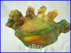 Massive 13 Lb Fellerman And Raabe Signed Solid Art Glass Sculpture Woman's Head