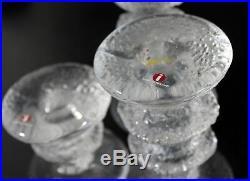 Mid Century Modern Scandinavian Set of 3 Timo Sarpaneva Glass Candleholders