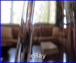 Mid Century Signed Vicke Lindstrand Unica Glass Vase HEAVY Kosta Boda