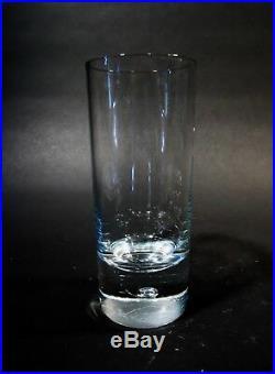 Midcentury KOSTA Boda Crystal PIPPI Bubble Stem 6 12 oz Flat Tumblers Highball
