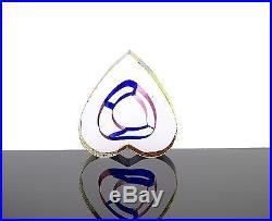Mini Sculpture'Heart' Bertil Vallien Kosta Boda Signed