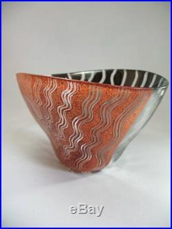 Monica Backström Kosta Boda XXL Schale Tonga Sweden Art Glass