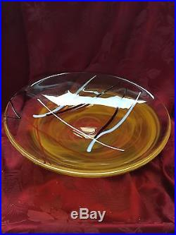 NEW FLAWLESS Exceptional KOSTA BODA Crystal CONTRAST CENTERPIECE BOWL DISH PLATE