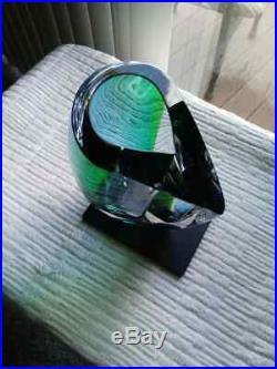 NEW KOSTA BODA MIRAGE 8-1/4 Vase Goran Warff Scandanavian Art Glass BLUE GREEN