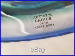 NEW KOSTA BODA VILSION BLUE VISION ART DISH BY Goran Warff