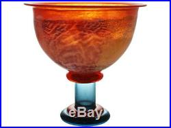 NEW Kosta Boda Can Can Footed Bowl Orange