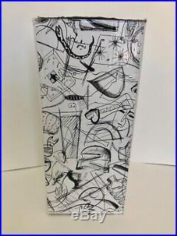 NEW in Box KOSTA BODA Catwalk Glass Vase 16.5 Tall Kjell Engman