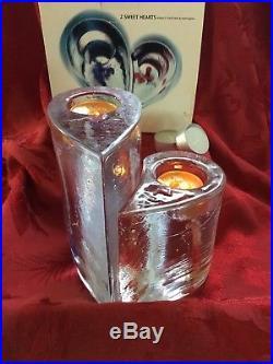 NIB FLAWLESS Stunning KOSTA BODA Crystal SWEETHEART Glass VOTIVE CANDLE HOLDER