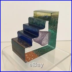 NIB Kosta Boda Sweden ENTRANCE Mini Sculpture by Bertil Vallien Signed by Hand