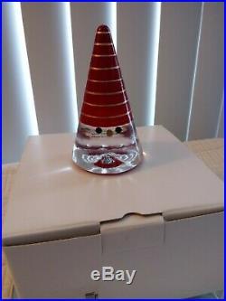 New WoW Kosta Boda Sweden Santa Noel Figurine Paperweight Anna Ehrner Red Gold
