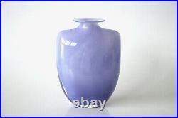 Original Hand blown Lilac Glass'Swing' Vase by Kjell Engman for Kosta, 80's