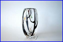 Original Mid-Century Vintage Autumn Glass Vase by Vicke Lindstrand for Kosta