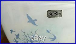 Ovale Vase November Von Kosta Boda Sweden Design Kjell Engman Art Glass