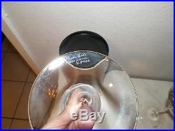 Pair (2) Kosta Boda Clear Crystal Fanfare Candlesticks 9 Unused Kjell Engman
