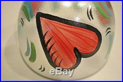 Pair LARGE & SMALL 8 5/8 & 5 7/8 Kosta Boda Hearts Bowl Art Glass Ulrica Hydman