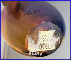 Pair of 2 Kosta Boda FIDJI Vase 14 & 11 by Kjell Engmann 48839 48838 Art Glass