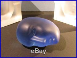 RARE KOSTA BODA CELL & BRAINS SCULPTURE BERTIL VALLIEN Signed Glass Head Face