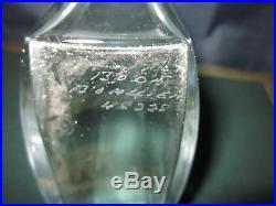 RARE KOSTA BODA Crystal VASE by BERTIL VALLIEN Numbered #48228