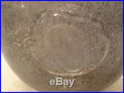 RARE KOSTA BODA FOSSIL Swedish Art Glass BOWL Kjell Engman SIGNED NUMBER NICE