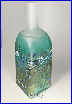 RARE Kosta Boda Atelier Bertil Vallien Painted Glass Vase Bottle Signed Numbered