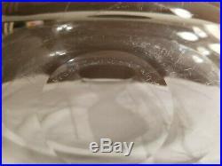 RARE Kosta Boda Etched Engraved Art Glass Vase Vicke Lindstrand LG 131 13.25