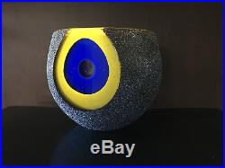 RARE Kosta Boda MOONLANDING Monica Backstrom Swedish Art-Glass Large Bowl MINT