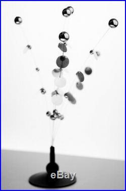 RARE Kosta Mid Century Modern Kinetic Sputnik Sculpture Danish Op Art Atomic