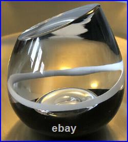 RARE Ltd! Room Jewelry By GORAN WARFF KOSTA BODA Sweden Art Glass Vase, H 3 1/2