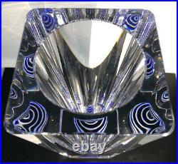RARE Signed BERTIL VALLIEN KOSTA BODA Sweden Thick Wall Glass Vase, H 8
