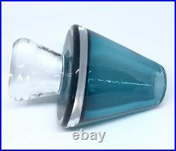RARE Signed VICKE LINDSTRAND KOSTA BODA Vase Cone Shaped Solid Glass, 1950's