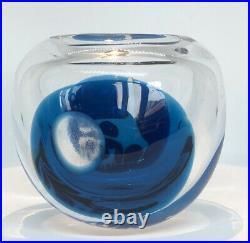 RARE VICKE LINDSTRAND KOSTA BODA Vase Abstract Unikat Glass Serie Cats, 1955