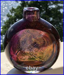 Rare Colorful GORAN WARFF KOSTA BODA Vase Mid-Century Red, Cerise Glass, H 4