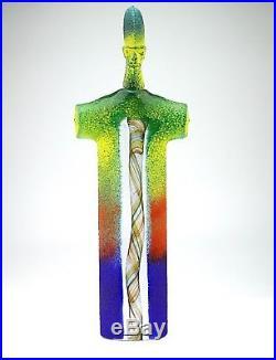 Rare Glass Sculpture Kjell Engman Signed