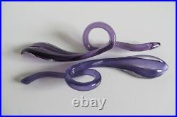 Rare KOSTA BODA Art Glass Pieces by Anna Ehrner in Amethyst Glass 99262
