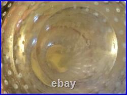 Rare Kosta Boda 8 Vase White Red Rim Controlled Bubble Vallien Signed Swedish