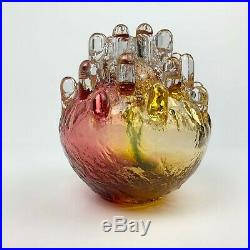 Rare Kosta Boda Glass Candle Holder Göran Wärff Art Glass Swedish