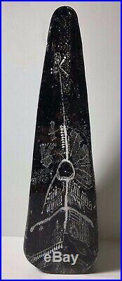 Rare Kosta Boda Goran Warff LAPPLAND Series 12 Obelisk Pillar Art Glass 1960s
