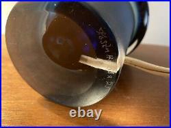 Rare Kosta Boda Ove Sandeberg Blue Glass Fish Lamp Sweden Mid Century Modern MCM