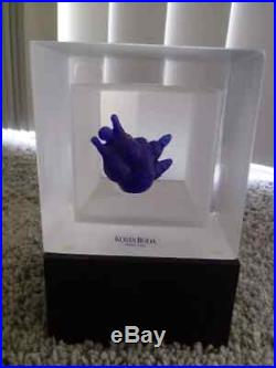 Rare Kosta Boda Snapshot Sculpture Cube NUDE Girl, Female, by Kjell Engman #2