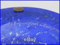 Rare Large Goran Warff for Kosta Boda Art Glass Bowl 57202 Signed