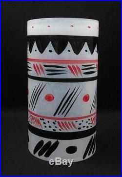 Rare Large Kosta Boda Sweden Ken Done Artist Collection Art Glass Vase Signed