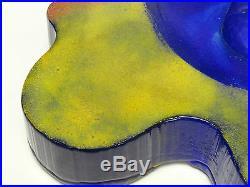 Rare Masterpiece Kjell Engman Atelier Kosta Boda Sculpture Face Centerpiece Bowl