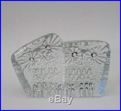 Rare Mid Century Kosta Boda Sweden Erik Hoglund OWL Glass Sculpture