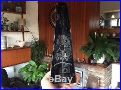 Rare Vintage 1960s 1970s Kosta Boda Large Obelisk Sculpture by Goran Warff