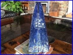 Rare Vintage 1960s 1970s Kosta Boda Obelisk Sculpture by Goran Warff