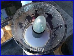 Rare Vintage 1960s 1970s Ove Sandeberg Primitive Figure Lamp for Kosta Boda